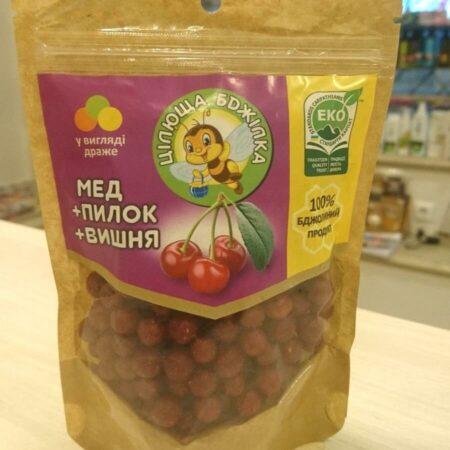 """Натуральные конфеты-драже """"Цілюща бджілка"""" с вишней купить в магазине Роса-Фуд"""