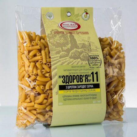Макароны ЗДОРОВЬЕ №11 с зародышем зерна из твердых сортов, 400г купить в магазине