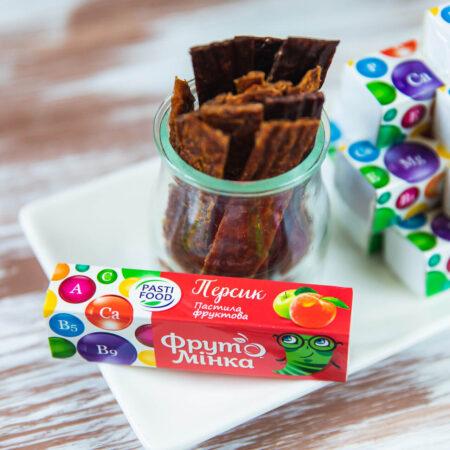 Детская фруктовая пастила Персик Pasti Food, 25г купить в магазине Роса-Фуд по лучшей цене
