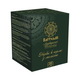 Аюрведический чай Нервы в норме с мелисой Sattvadil, 20 пакетов купить в магазине Роса-Фуд