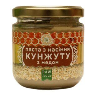Паста из семян кунжута с медом Эколия 200 грамм купить в магазине Роса-Фуд
