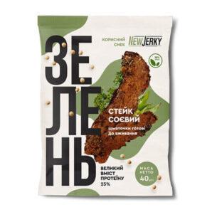 Соевые стейки со вкусом зелени Newjerky купить в магазине Роса-Фуд