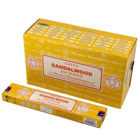 Благовония сандалового дерева Сатья 15 штук купить в магазине Роса-Фуд