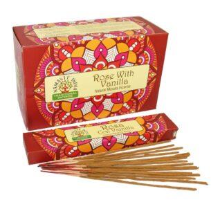 Благовония Роза и Ваниль (Rosa with Vanilla, Orkay) купить в магазине Роса-Фуд