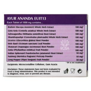 Предварительный просмотр SEO названия: : Аюр Ананда (Ayur Ananda Holistic Herbalist) 60 таблеток купить в магазине Роса-Фуд