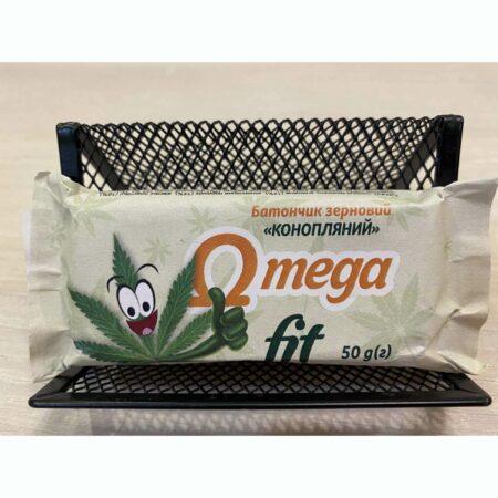 Батончик зерновой конопляный Omega-fit 50 г купить в магазине Роса-Фуд