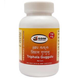 Трифала гуггул (Triphala Guggulu DS SDM) 100 таб купить в магазине Роса-Фуд