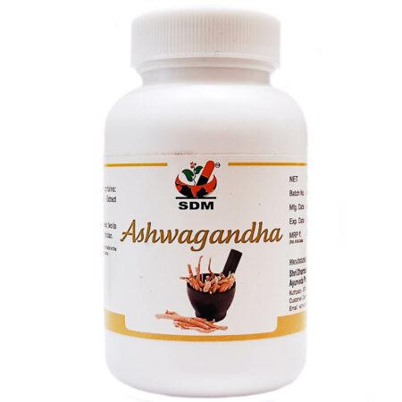 Ашвагандха (Ashwaghandha Capsules SDM) 100 капсул купить в магазине Роса-Фуд
